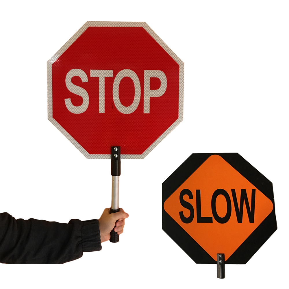 Stop and Slow Sign USA