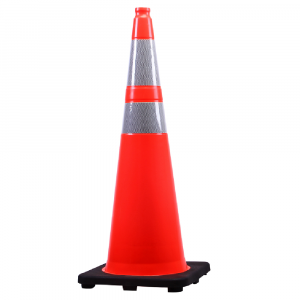 Tall traffic cone orange