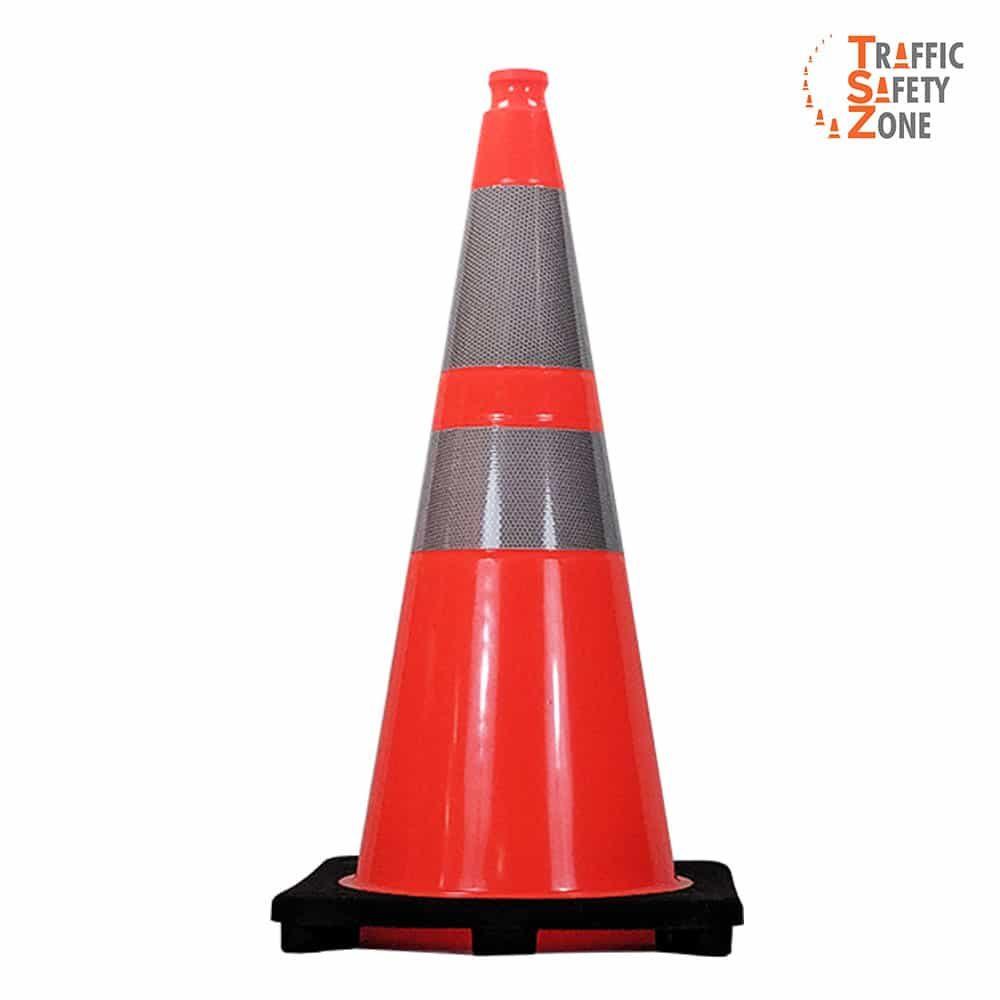 "28"" Traffic Cone with HI Collars 7 lb"