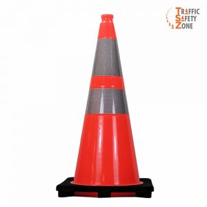 "28"" Traffic Cone with HI Collars 7 lb"