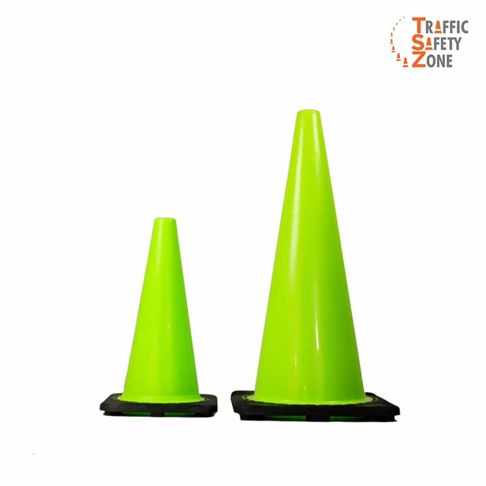 Green Traffic Cones