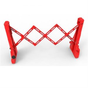 Red Expanding Barrier