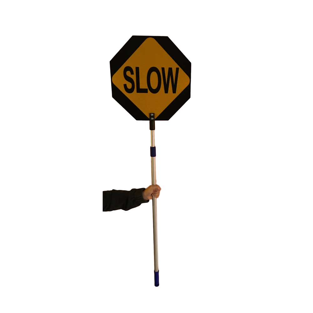 Stop and Slow Paddle Adjustable Pole