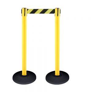 Yellow Extending Barrier Belts