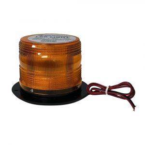 """LED Beacon Class 1 Fixed Mount 4.5"""" Tall 5 Flash Patterns SAB-AB-675F-A"""